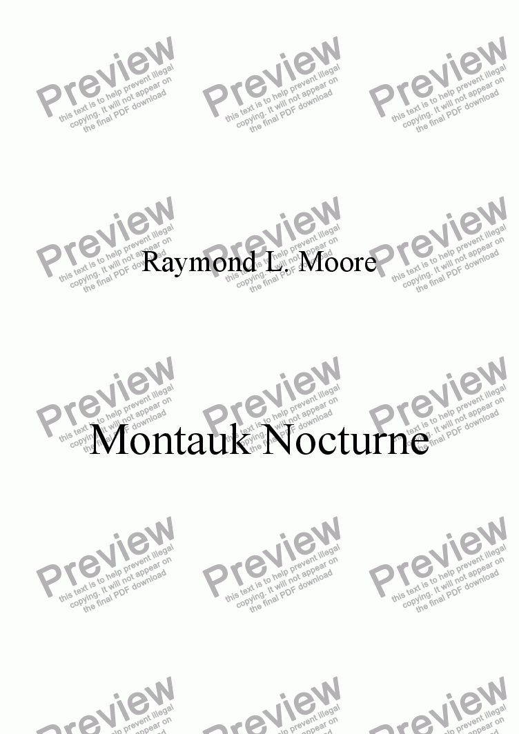 page one of  Montauk Nocturne from Scenes of NY (Pop)