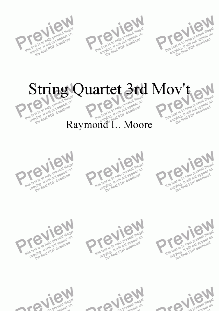 page one of String Quartet 3rd Movement (classical)ASALTTEXT
