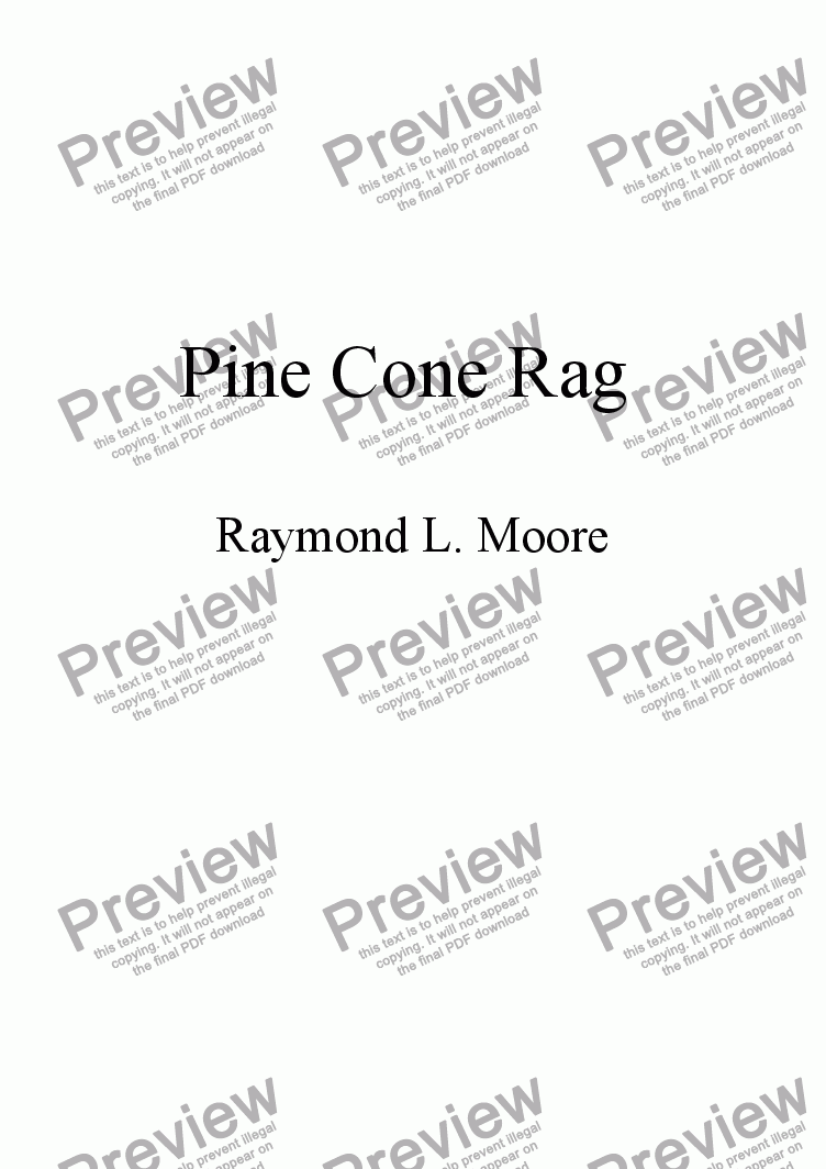page one of Pine Cone Rag from Dasne Suite & 3rd Mov\\\'t of Sonatatina