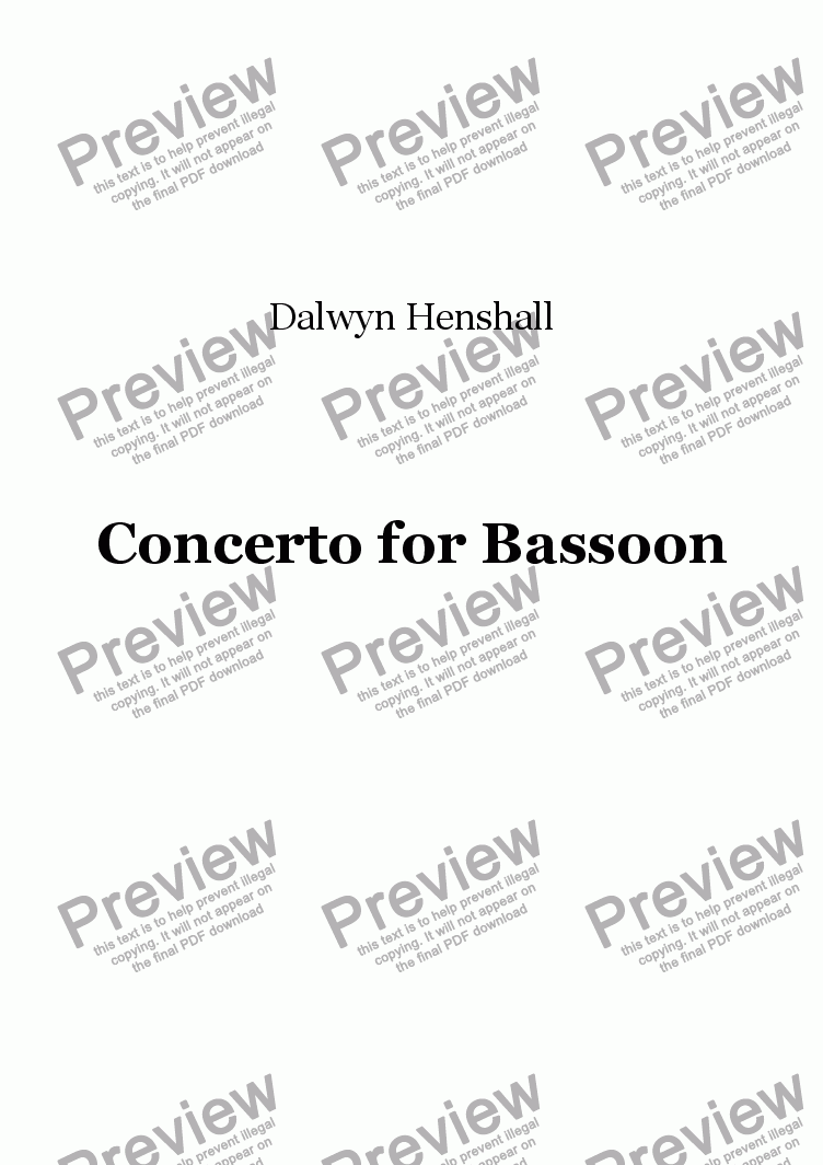 page one of Bassoon Concerto: I [+mp3]