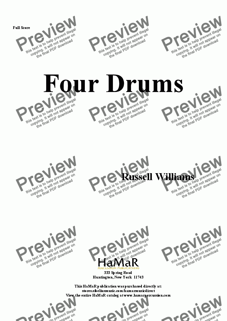 page one of Four Drums