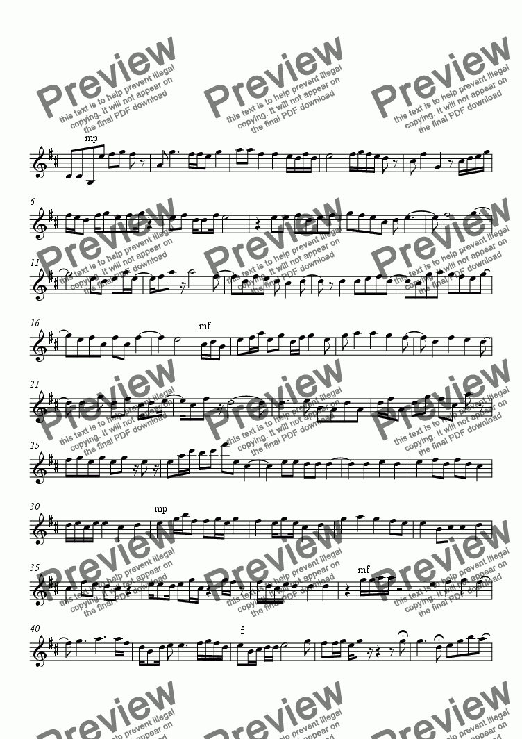 page one of Medley from the East