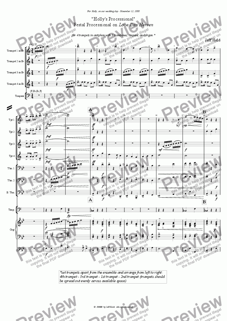 page one of Festal Processional on Lobe den Herren