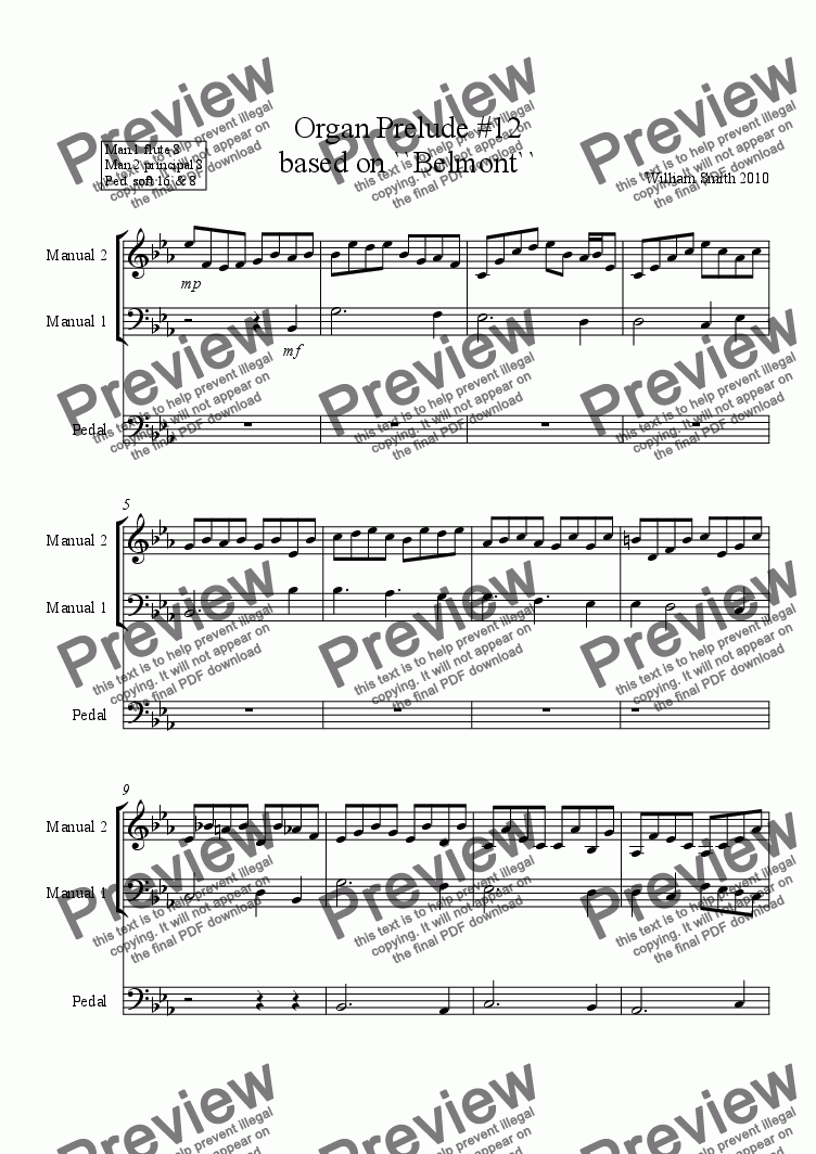 page one of Organ Prelude #12
