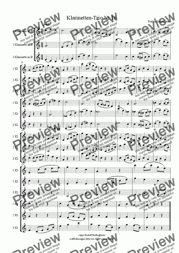 page one of Klarinetten-Trio Nr.16
