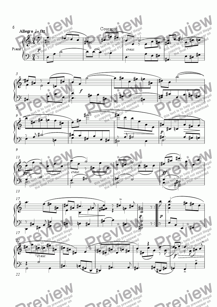 page one of Suite No.1 (3.Courante)ASALTTEXT