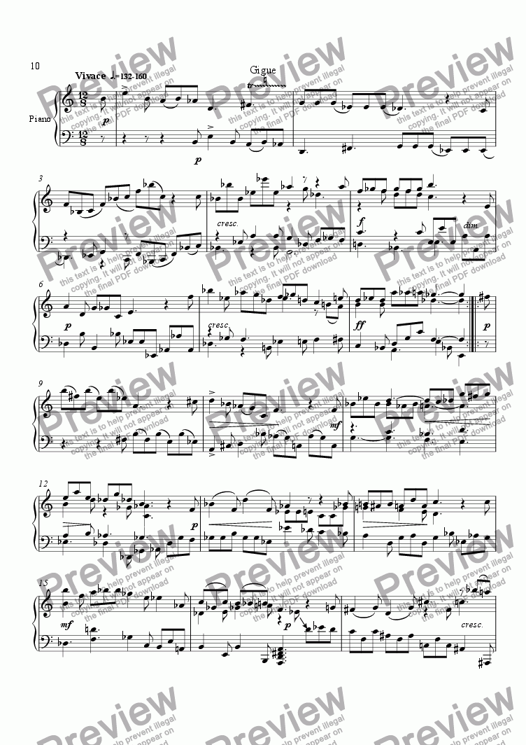 page one of Suite No.1 (5.Gigue)ASALTTEXT