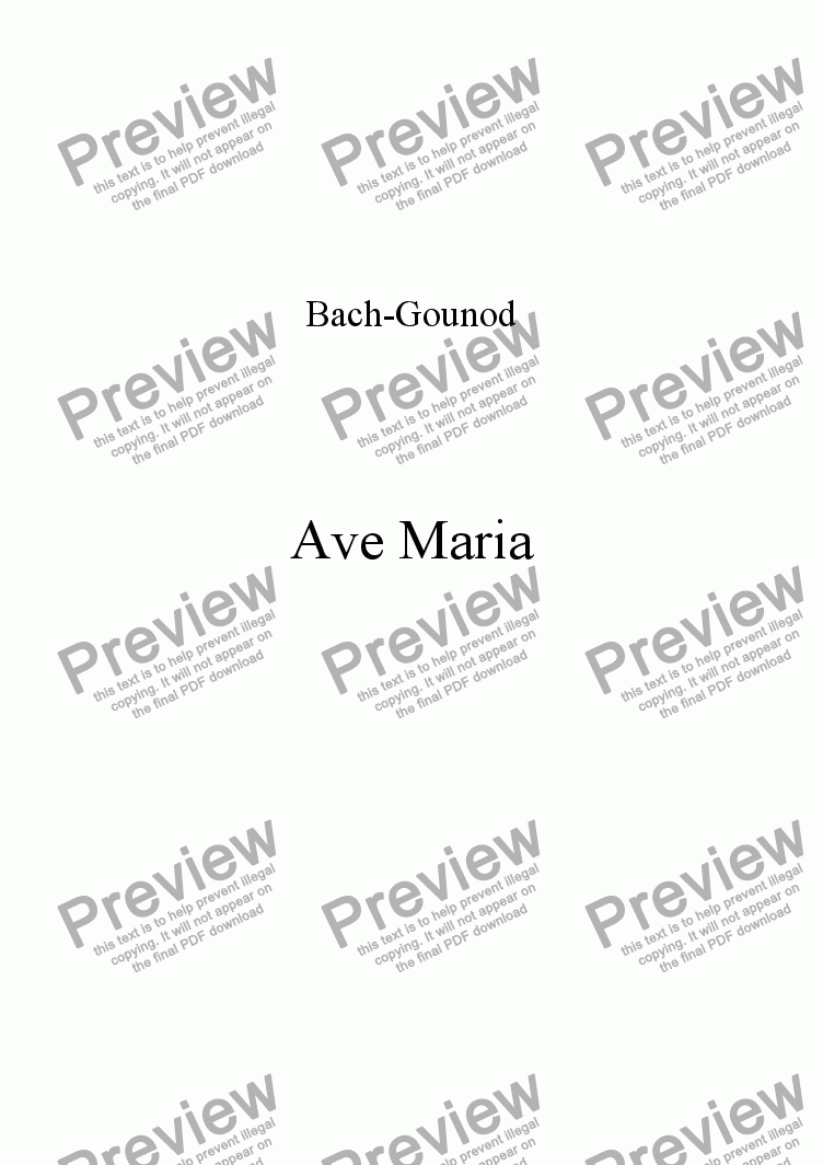 page one of Ave Maria