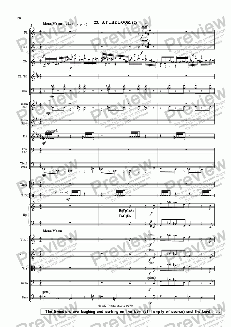 page one of Ballet: The Emperor's New Clothes (Act 2 #5) Swindler's Dance.