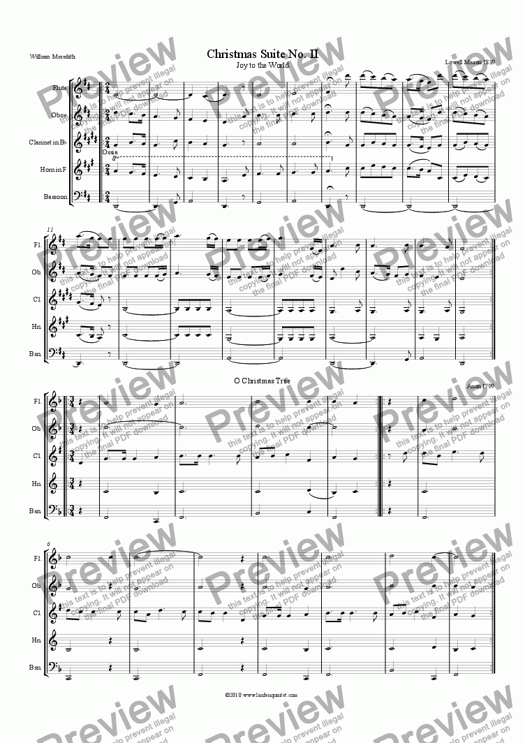 page one of Linden Quintet Christmas Suite No. II