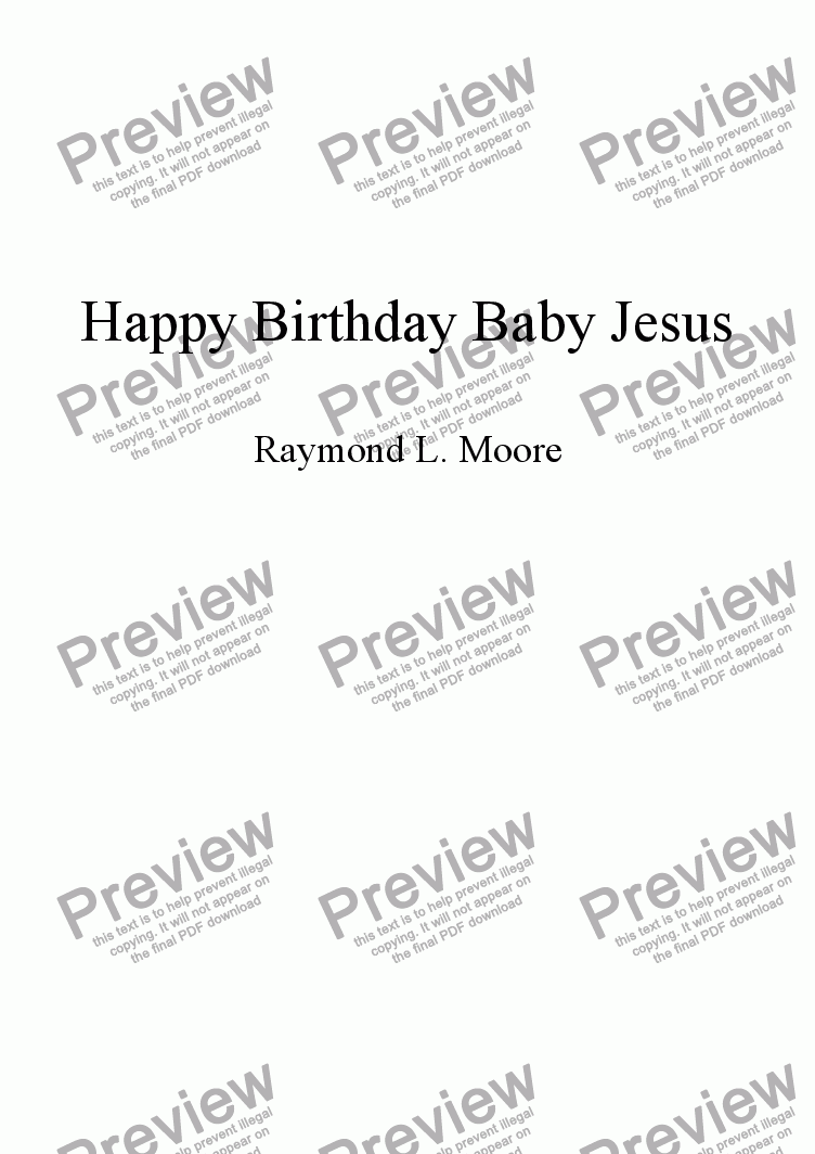 "page one of ""Happy Birthday Baby Jesus from ""Messiah's Here"""