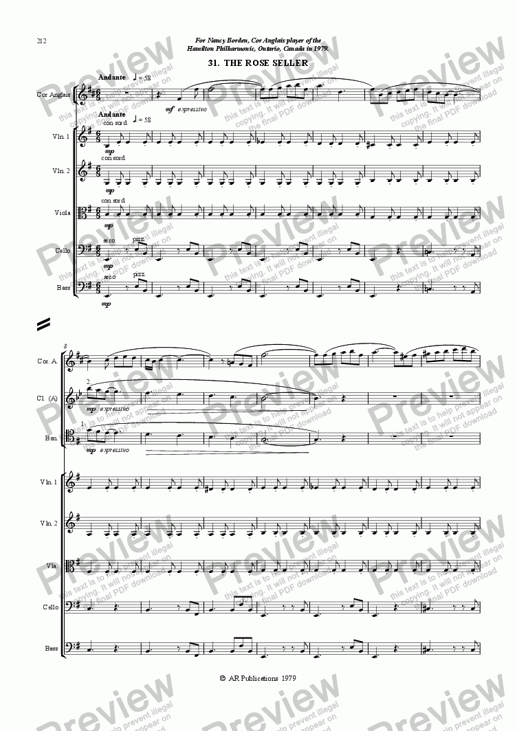 page one of Ballet: The Emperor's New Clothes (Act 3#2) Rose-seller
