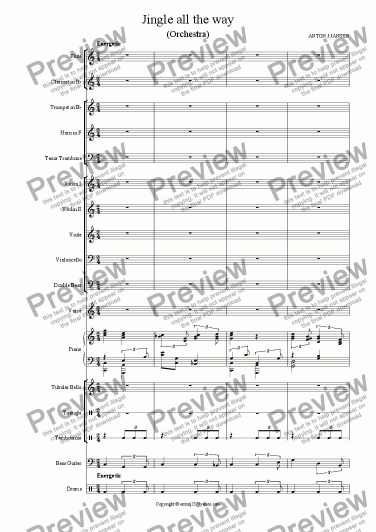 page one of Jingle all the way (Orchestra)ASALTTEXT