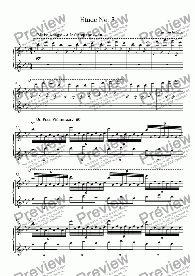 page one of Etude No. 3