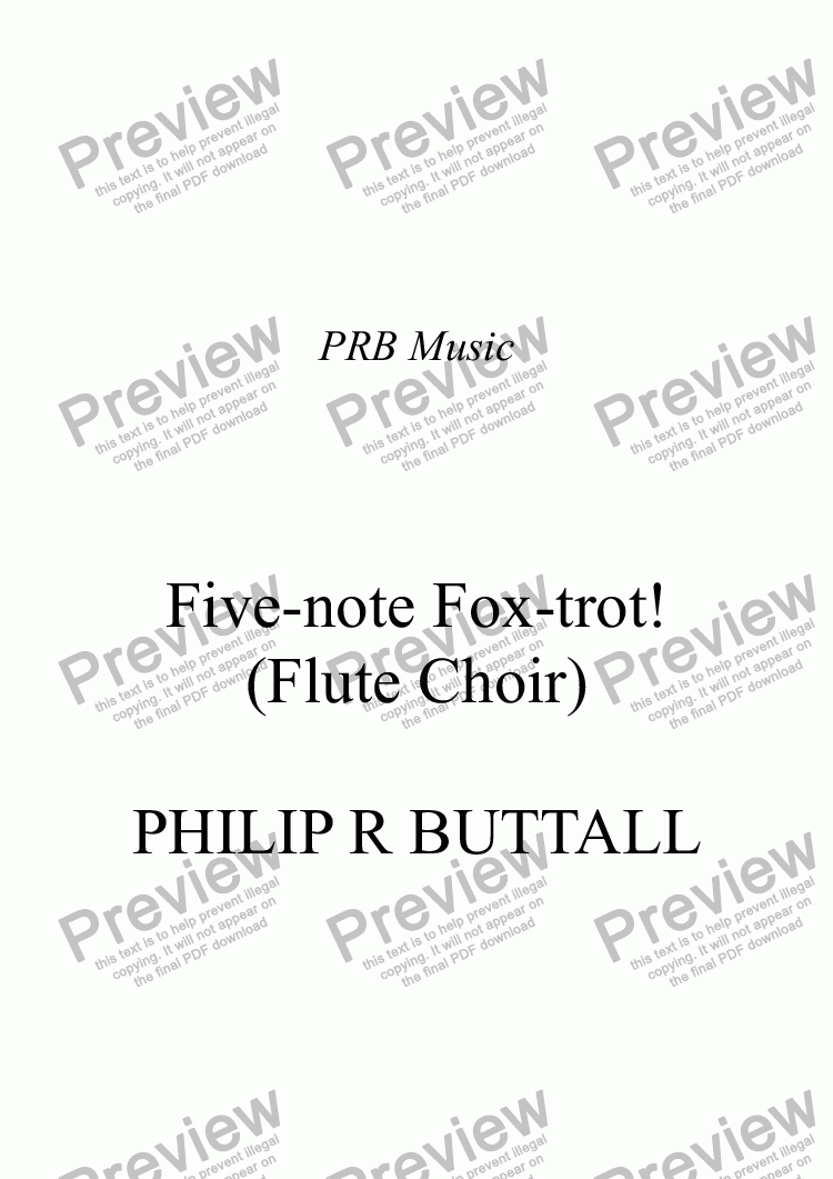 page one of Five-note Fox-trot! (Flute Choir)