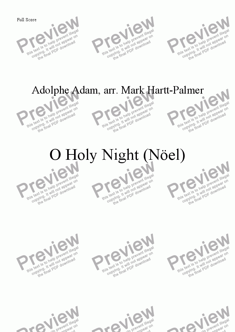 page one of O Holy Night (version for 2 Violins & Piano)