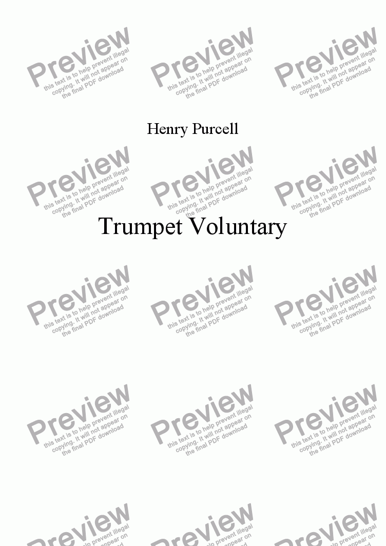 page one of Trumpet Voluntary