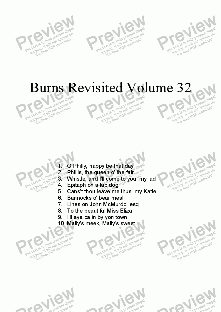 page one of Burns Revisited Volume 32ASALTTEXT