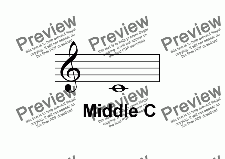 page one of ABC Poster Notes: Treble Middle CASALTTEXT