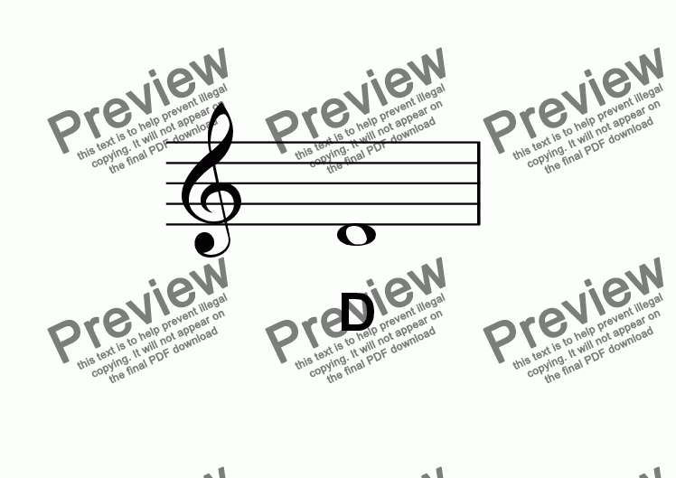 page one of ABC Poster Notes: Treble clef D