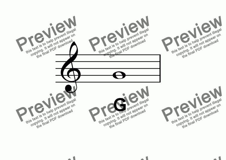 page one of ABC Poster Notes: Treble Clef GASALTTEXT