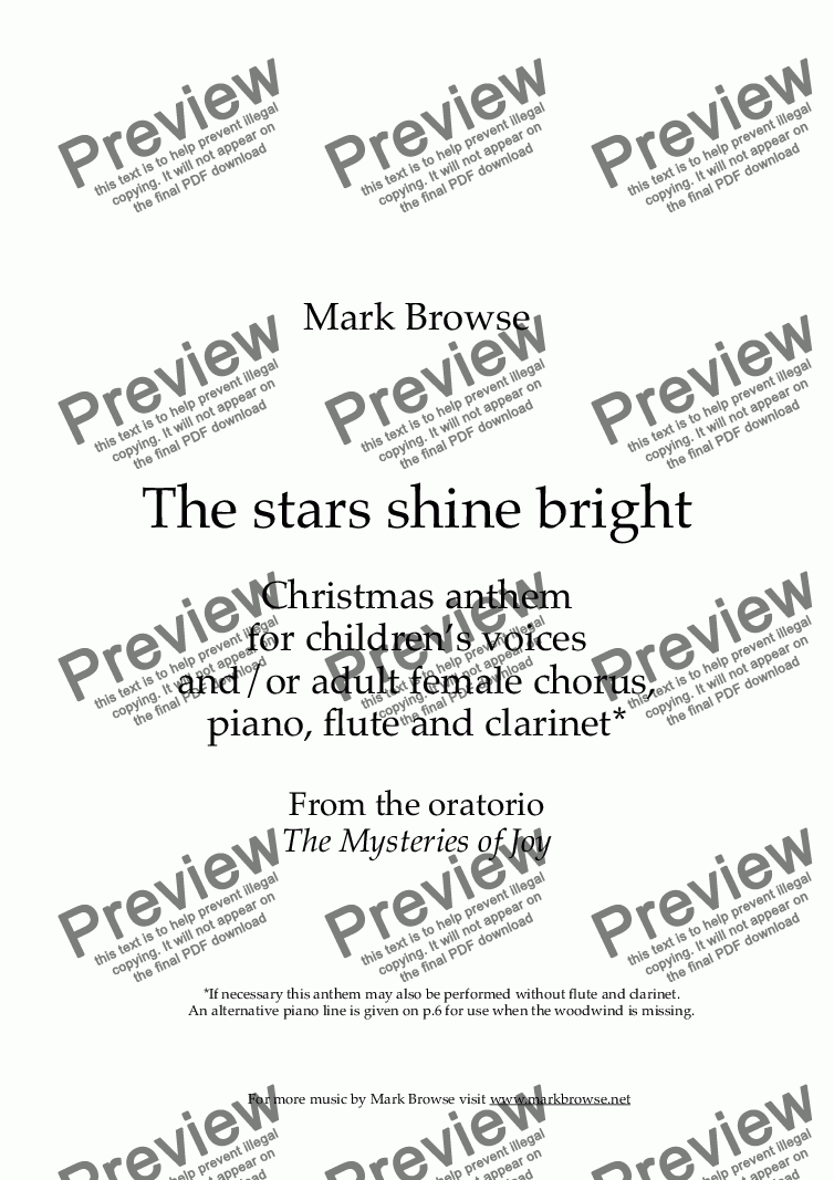 page one of The stars shine bright