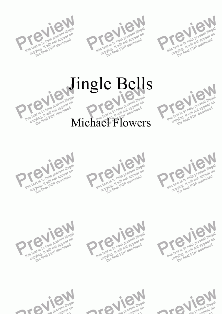 page one of Simple Unison Carols No. 6 Jingle Bells