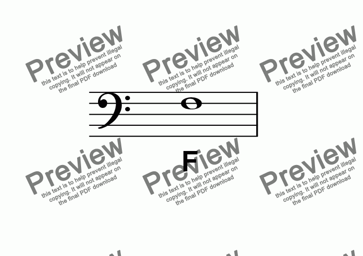 page one of ABC Poster Notes: Bass Clef F