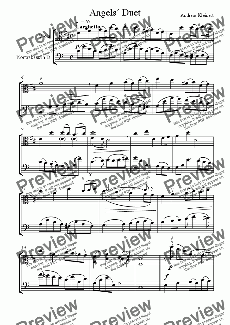page one of Angels´ Duet