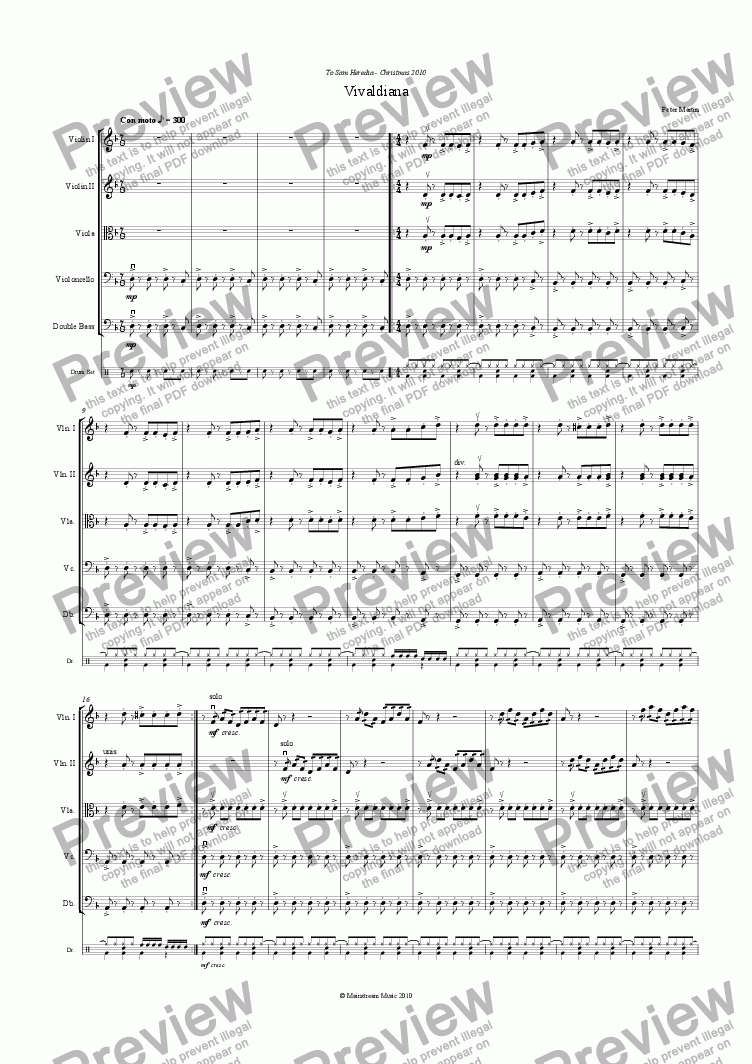 page one of Vivaldiana - String OrchestraASALTTEXT