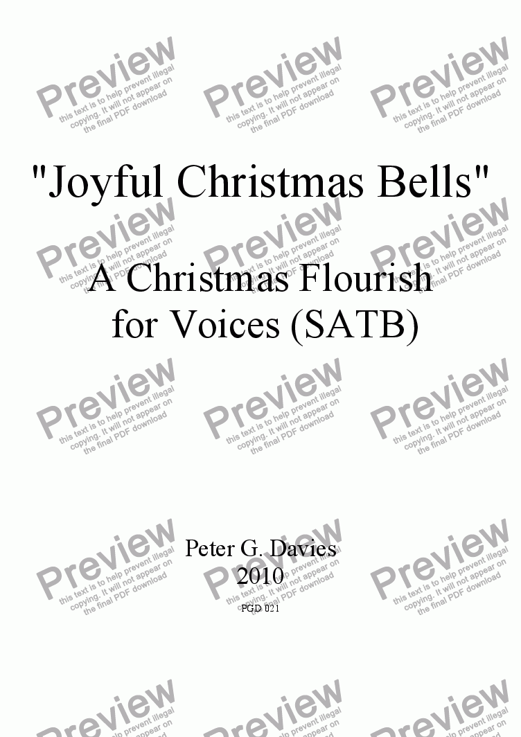 page one of Joyful Christmas Bells for SATB and Keyboard