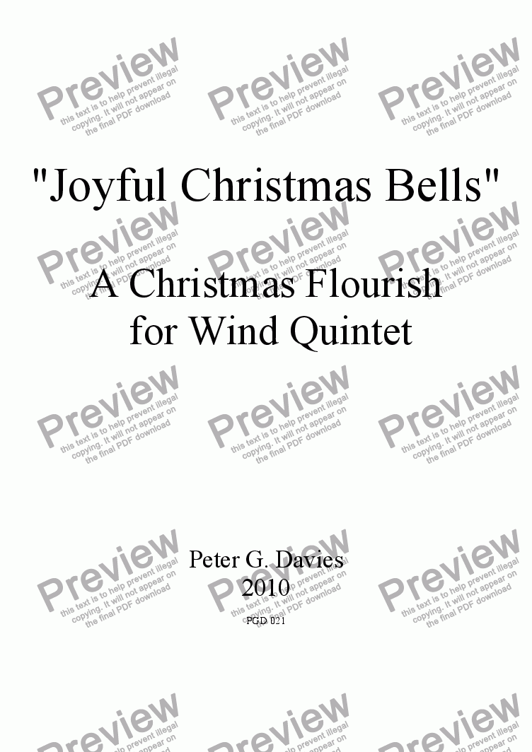 page one of Joyful Christmas Bells for Wind Quintet