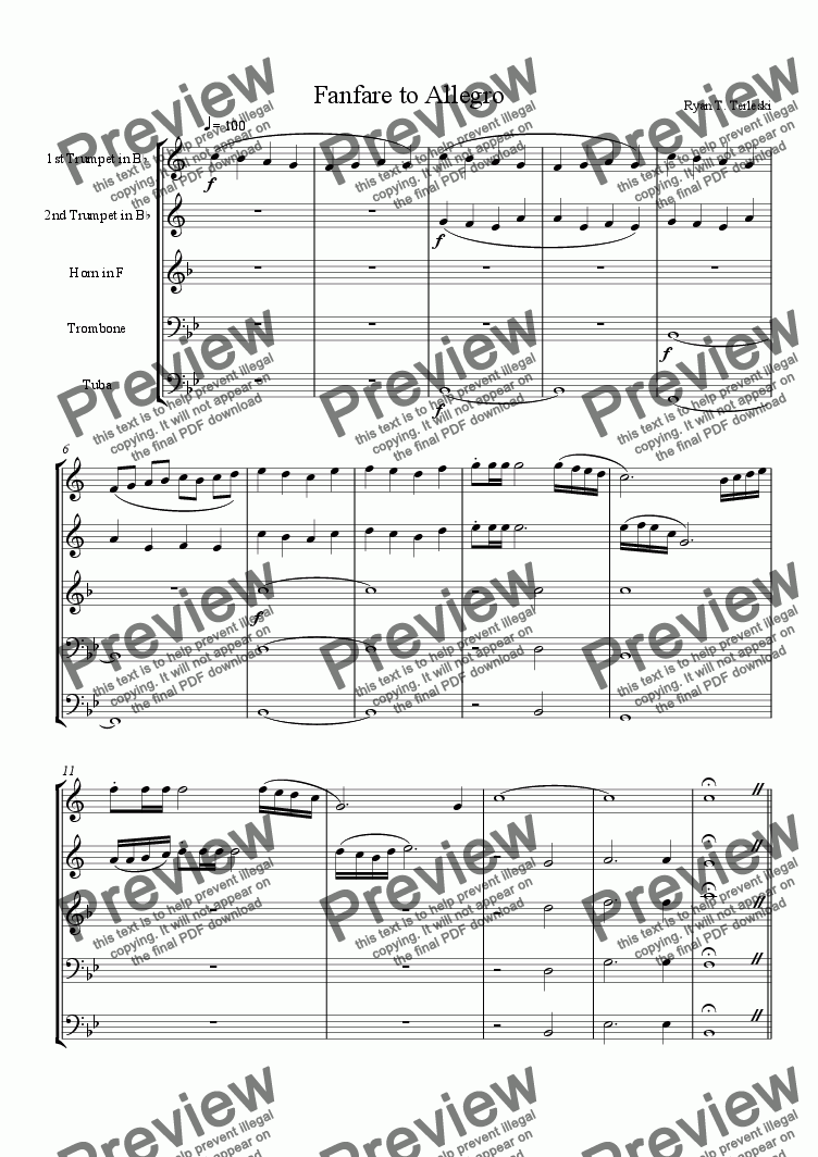 page one of Fanfare to AllegroASALTTEXT