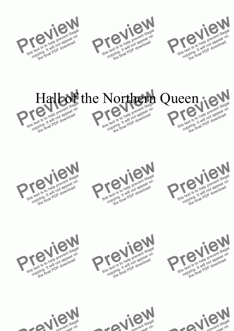 page one of Hall of the Northern Queen