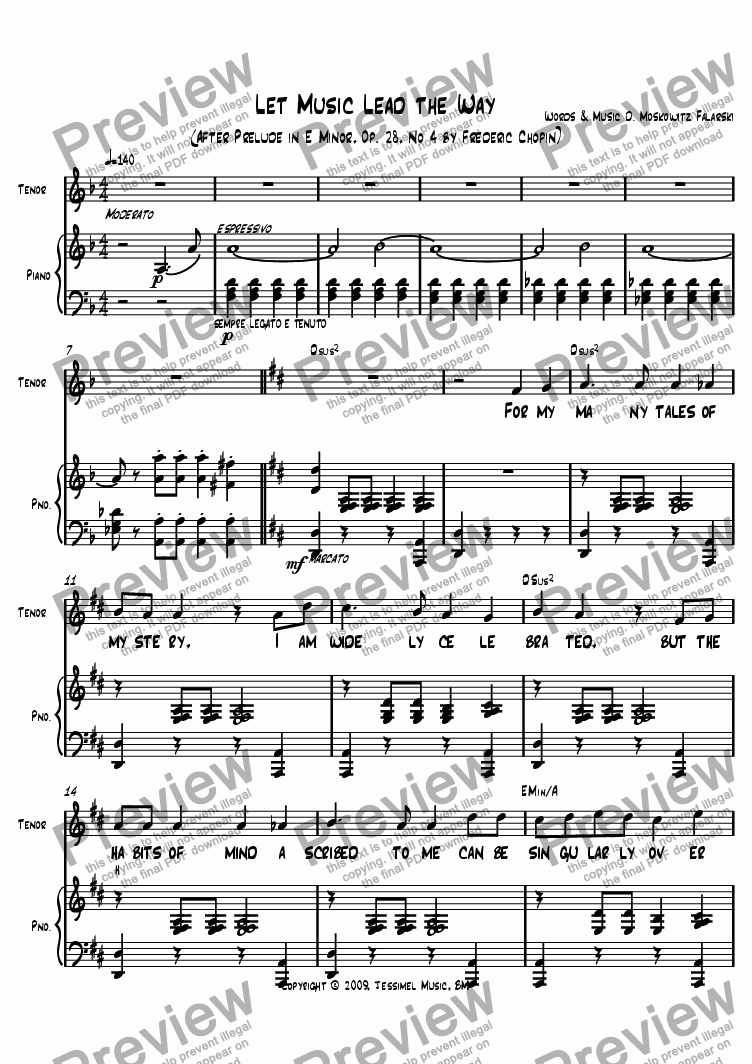 page one of Let Music Lead the Way