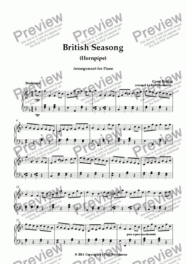 page one of British Seasong (Famous Hornpipe) (Traditional)
