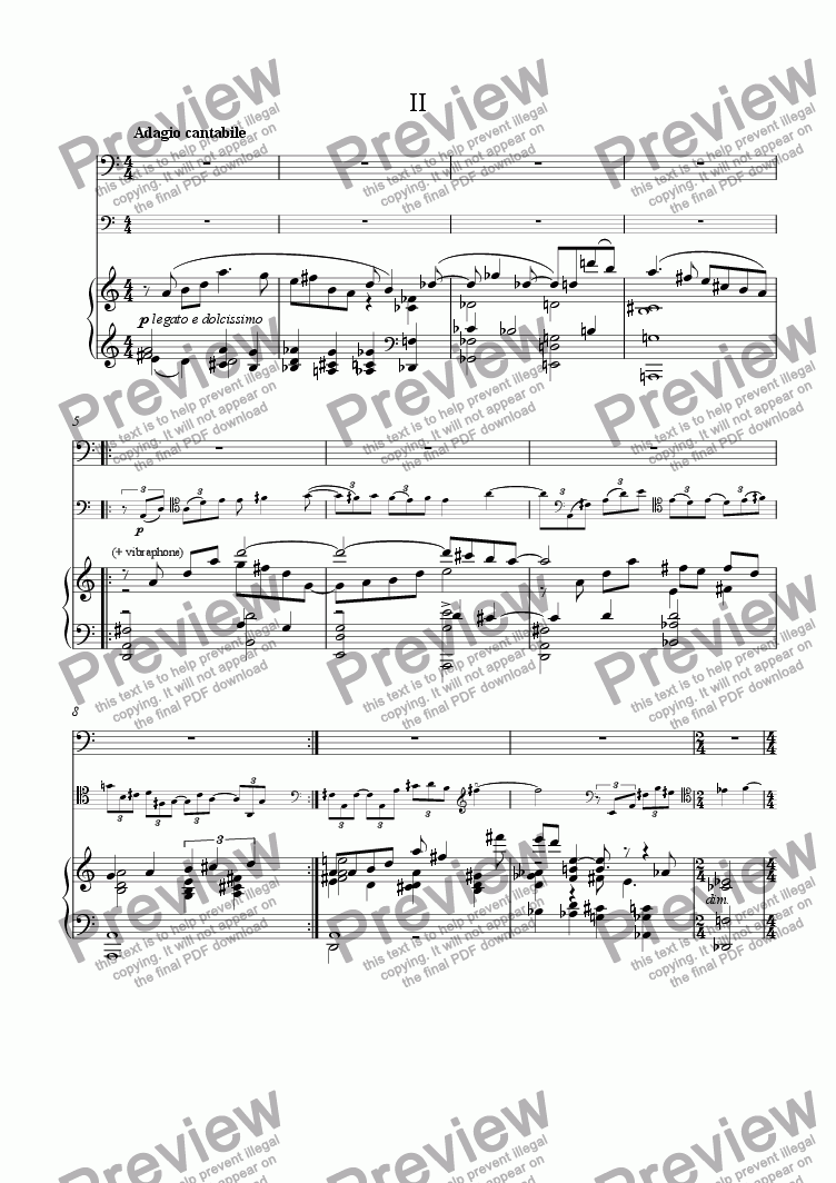 page one of Bassoon Concerto: II [bn, pno][+mp3]
