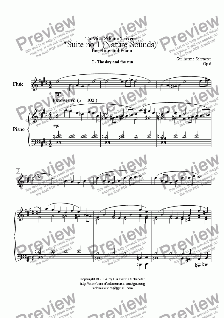 page one of Op.006 - Suite for Flute and Piano No.1