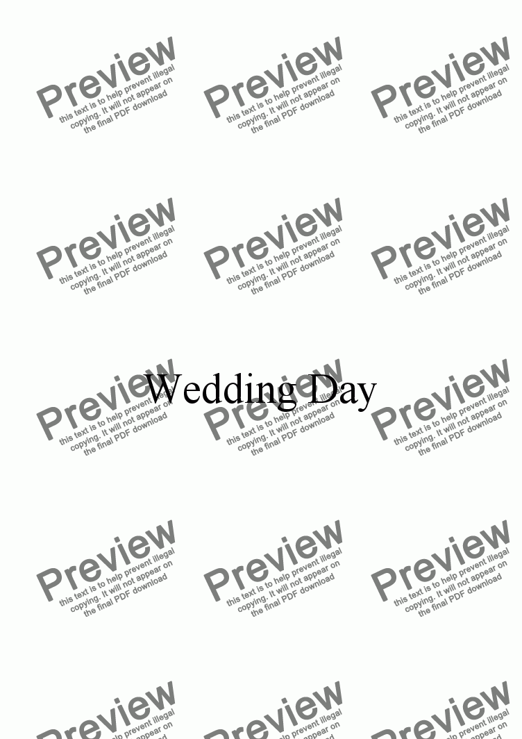 page one of Wedding Day