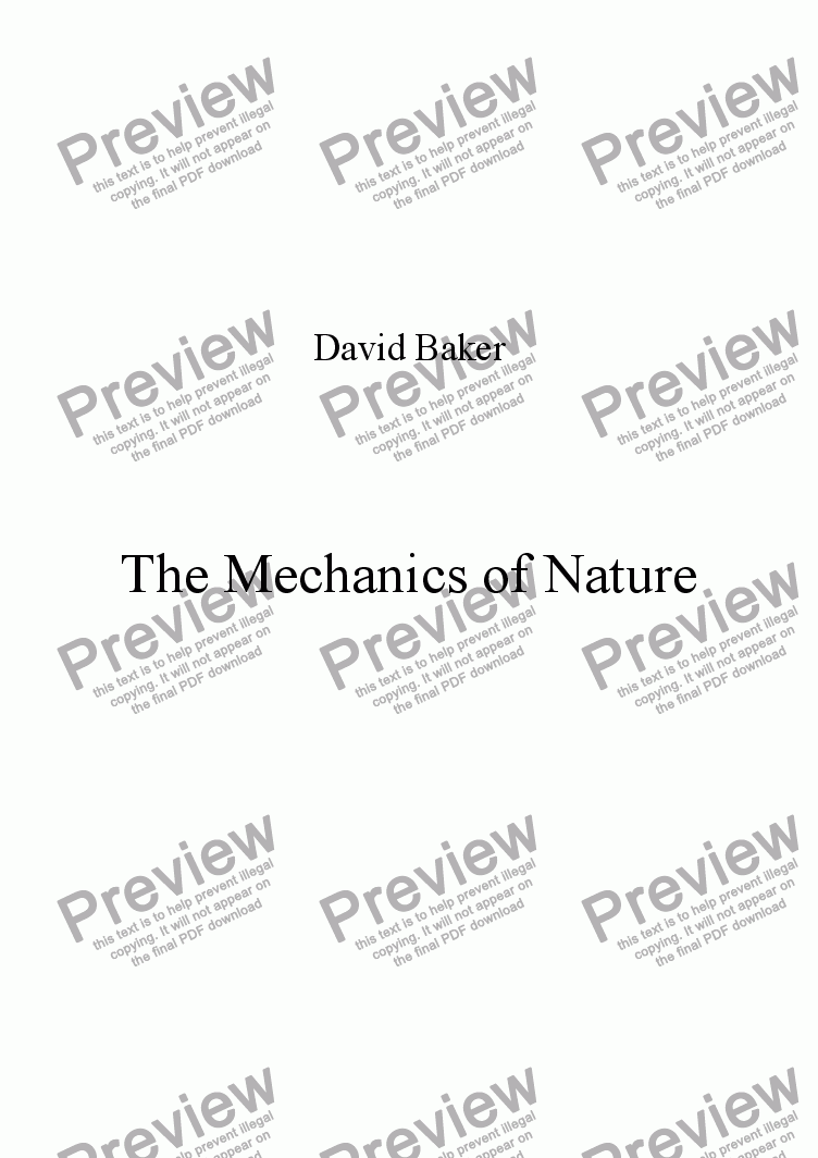 page one of The Mechanics of Nature
