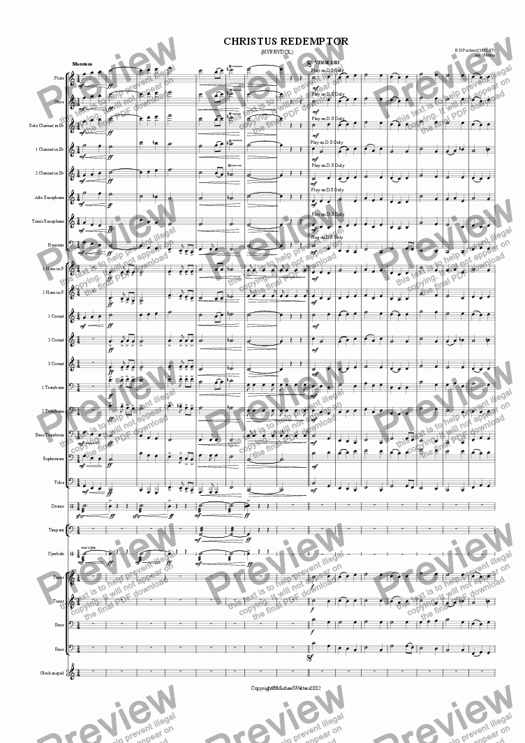 page one of Hyfrydol (Band and Choir)ASALTTEXT