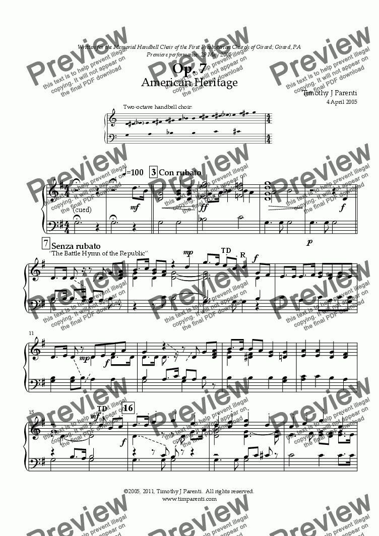 page one of Op. 7