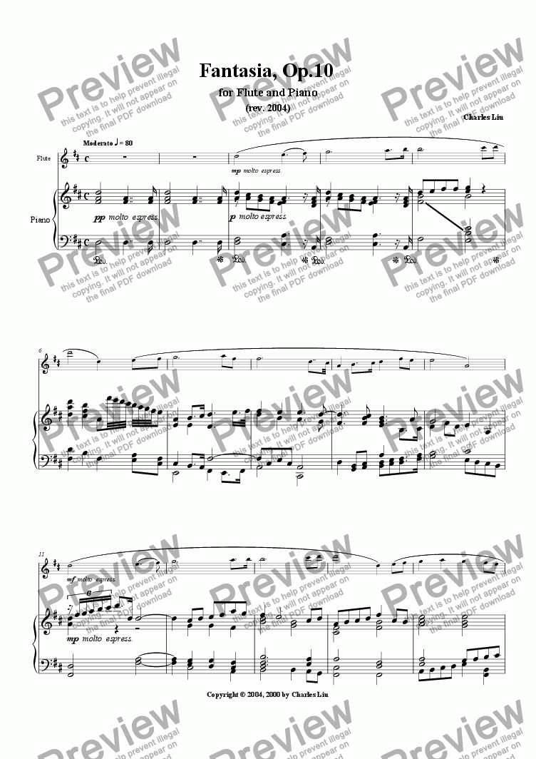 page one of Fantasia, Op. 10