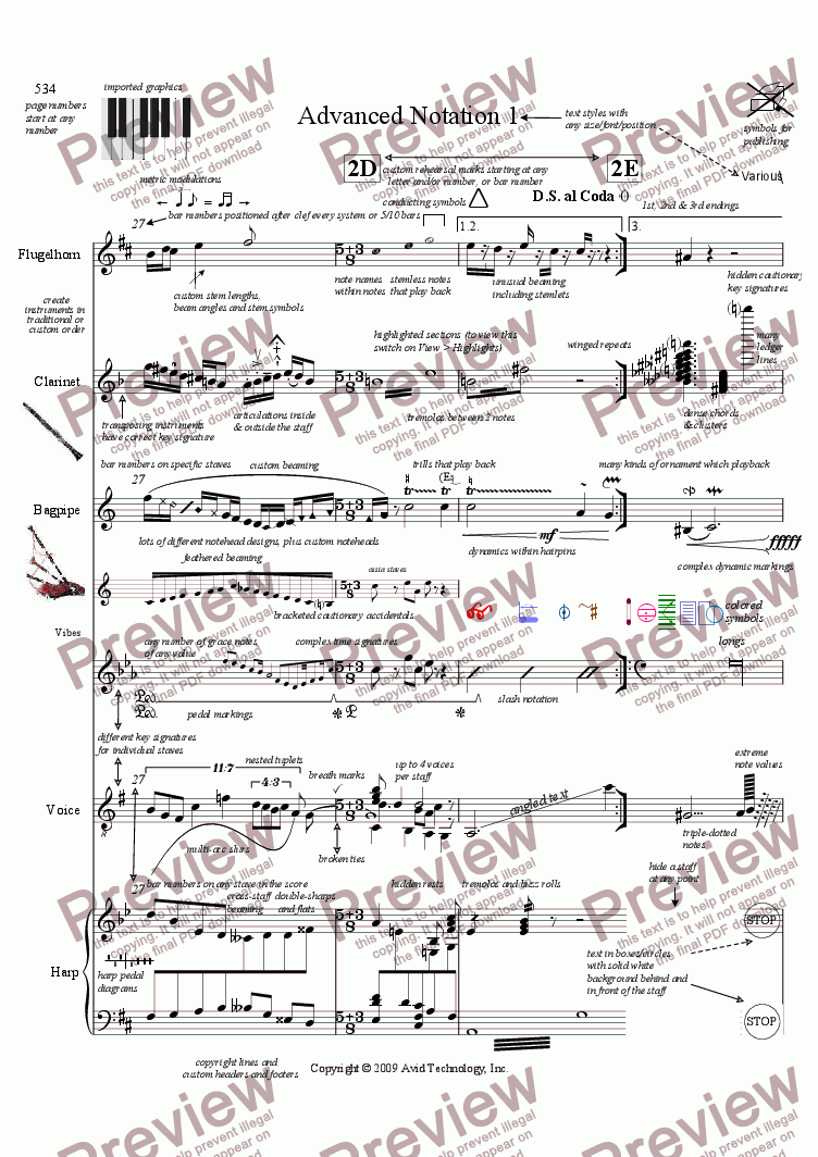 page one of Score Exchange printing testASALTTEXT