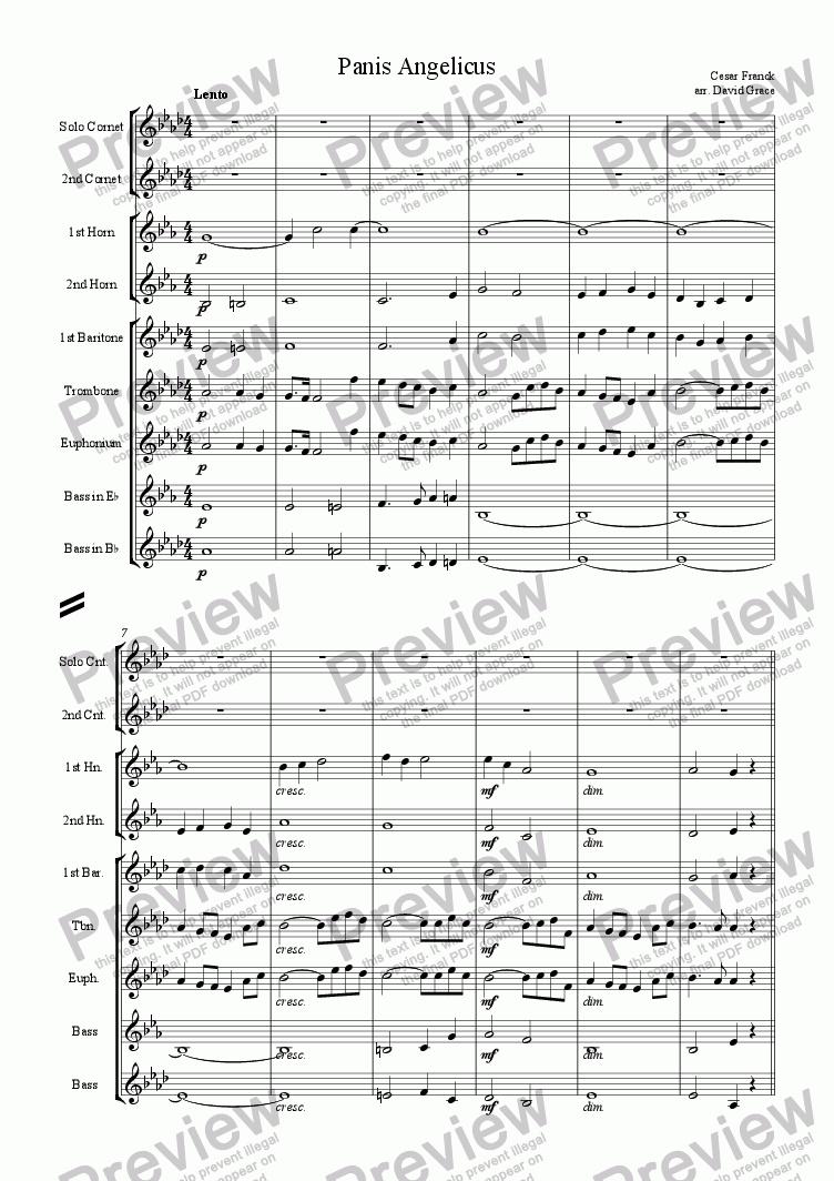 page one of Panis Angelicus [Franck]