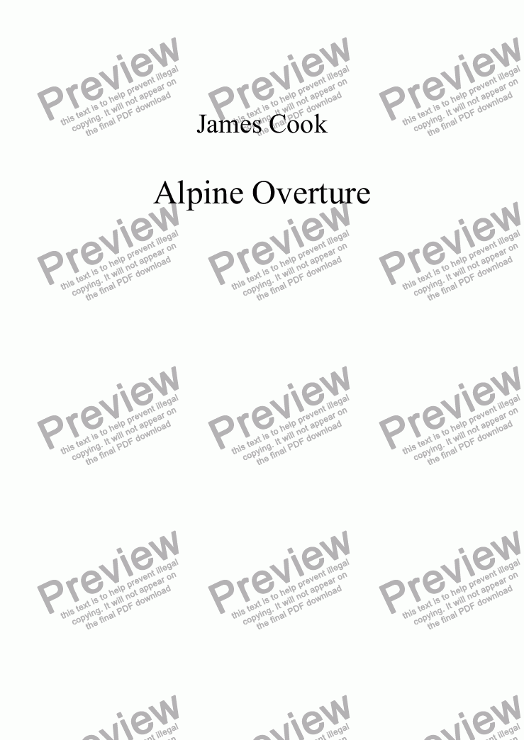 page one of Alpine Overture