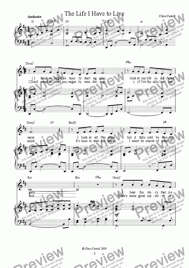 The Life I Have To Live Download Sheet Music Pdf File Weekly faq thread july 19 2020: score exchange