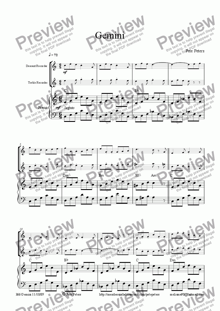 page one of Gemini [duet]