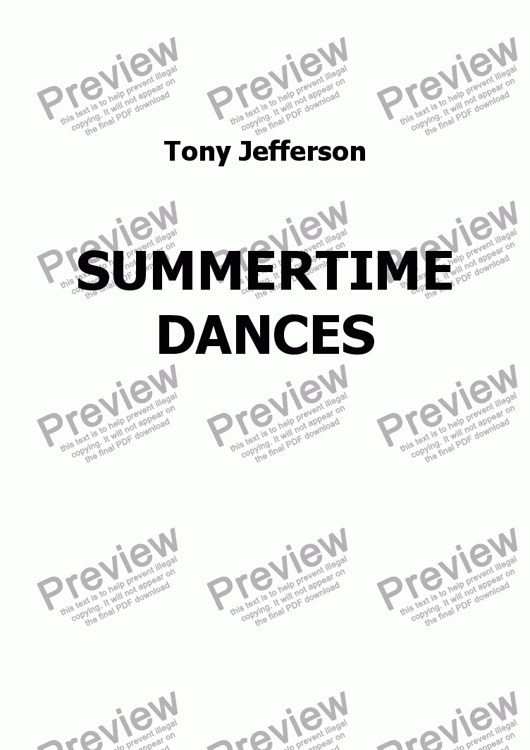 page one of Summertime Dances 1 Prelude