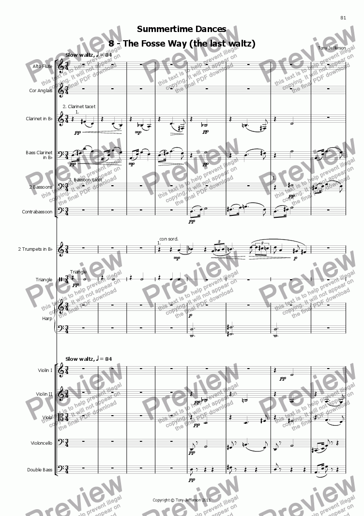 page one of Summertime Dances 8 Last Waltz